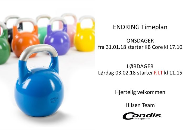 Endring timeplan
